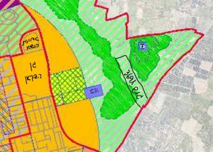 ייעוד גוש 3691 לטובת שטחים חקלאים פתוחים לפי תשריט ייעודי הקרקע המצורף לתכנית המתאר לכלל העיר רח/2025. להגדלה - לחץ על התמונה