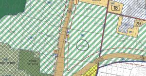 יייעוד גוש 10044 לאזור חקלאי לפי תכנית המתאר של העיר חד/2020. להגדלה - לחץ כאן