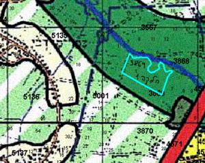 """ייעוד חלקה 1 בגוש 3869 לאזור נחל וסביבותיו, לפי תמ""""מ 21/3 - תכנית מתאר מחוזית - מחוז מרכז. להגדלה - לחץ על התמונה"""