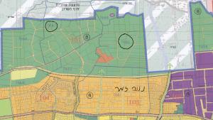 ייעוד גושים 7660 ו 7667 לשטח פתוח כחלק ממתחם 8 (תכנית המתאר חולקה ל 10 מתחמי תכנון) לפי תשריט ייעודי הקרקע המצורף לתכנית המתאר לכלל העיר רע/3000 הנמצאת בהפקדה במחוזית. תכנית שמייעדת את כל שטחי העיר עד לשנת 2035. להגדלה - לחץ על התמונה