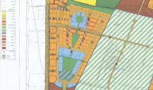 תכנית הצ/ 1/ 1/ 374/ א על גוש 8024. אישורה הסופי, וביצועה של התכנית ישאיר את גוש 8023 כשטח פתוח אחרון בדרום מערב המועצה אבן יהודה. להגדלה - לחץ כאן