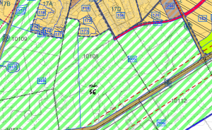ייעוד חלקה 56 בגוש 10108 לאזור חקלאי לפי תכנית המתאר החדשה לכלל פרדס חנה כרכור. תכנית שנותנת ייעוד לכל שטחי המוצעה עד לשנת 2030. להגדלה - לחץ כאן