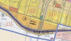 ייעוד מתחם רע/2012 לבנייה רוויה (צבע כתום) כחלק ממתחם מספר 4 ( תכנית המתאר חולקה ל 10 מתחמי תכנון) לפי תשריט ייעודי הקרקע המצורף לתכנית המתאר לכלל העיר הנמצאת בהפקדה במחוזית. למתחם זה תוקם תכנית פרטנית לאחר אישורה של תכנית המתאר של העיר.