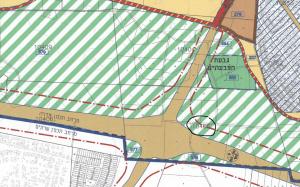 ייעוד גוש 10405 לאזור חקלאי, בנוסף להפקעה של חלק מהחלקות בגוש לטובת כביש 9, לפי תכנית המתאר של העיר חד/2020 שאושרה בוועדה המחוזית