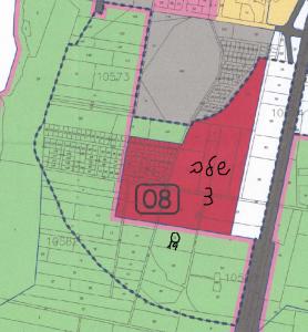 מיקום חלקה 19 בגוש 10583 כחלק ממתחם 8( גבול המתחם מסומן בקו כחול מקווקו). להגדלה - לחץ על התמונה