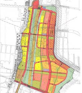 תשריט שכונת אפק החדשה מצפון לכביש 79, כחלק מתנופת הפיתוח העצומה של קריית ביאליק. להגדלה - לחץ על התמונה