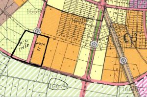 חלקה 1 (מסומנת בקו שחור) בגוש 16679 בייעוד משולב לטובת הרחבת בית הקברות ובנייה נמוכה(מגורים א) כחלק  מתת מתחם C3 לפי תשריט ייעודי הקרקע של תכנית המתאר לכלל העיר. מתחם שיצטרך תכנית מפורטת. להגדלה - לחץ על התמונה