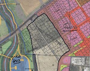 """מיקום החלקות הנ""""ל במכרז גוש 6573 בין השטחים הנכללים בתכנית 1400 ממזרח ולבין השטחים הנכללים בתכנית שיקום הפארק ממערב."""