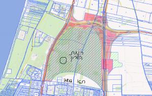 """חלקה 7 (מסומנת בעיגול) מתוך תכנית רש/800 החלה על רוב השטח במתחם גלילות השייך לרמת השרון ובו יתרכזו החלק הנרחב של יח""""ד העתידיות במתחם. מתוך אתר המפות הממשלתי. להגדלה - לחץ על התמונה"""